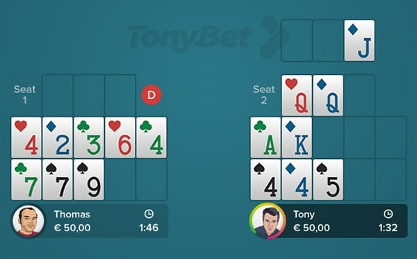 Open-face Chinese Poker - Simple 05