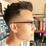 Men's haircut by Miles Hall, hair stylist