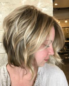 Highlights haircut by Melanie White, master hair stylist