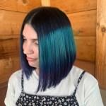 Vibrant hair color & haircut by hair stylist, Rachill Silvola