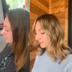 Highlight & haircut by hair stylist, Rachill Silvola