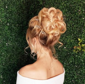 Formal style updo by hair stylist Mariesol Pool