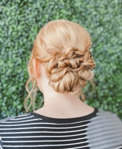 Updo formal hair style by hair stylist Madelyn Roach