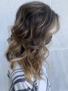 Hair color and haircut by hair stylist Karli Moran