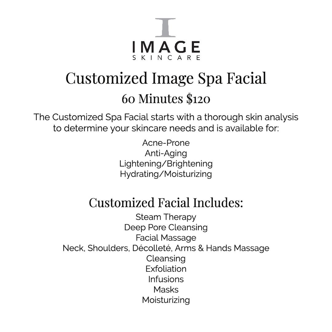 Customized skincare facial description and price