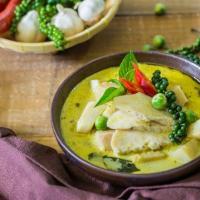 Рецепт зеленый карри с курицей по Тайски