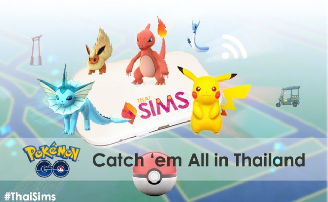 Catch Pokemon Monster in Thailand ThaiSims 4G Pocket WiFi Mobile Router Rental