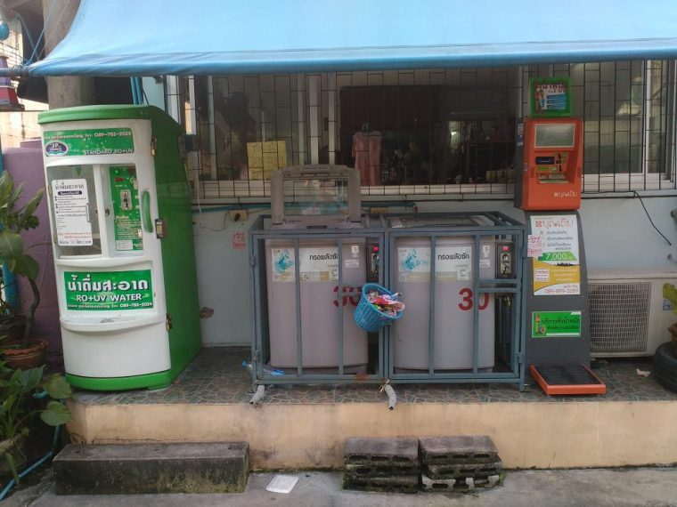 Bangkok eco friendly drinking water refill machine green