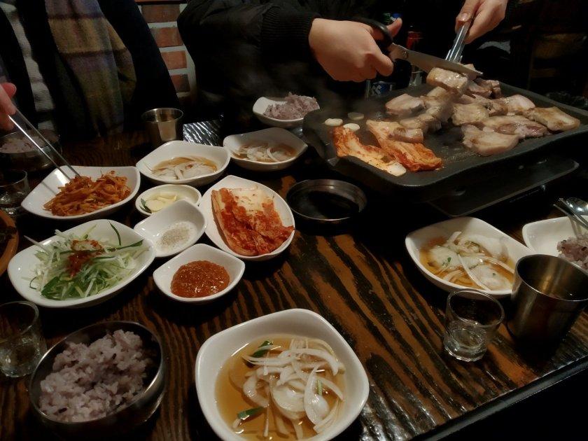korean bbq seoul hunters food tour
