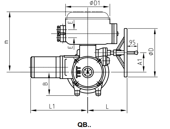 PRODUCT QB..Butterfly Valve Actuator 380VAC Supply Voltage