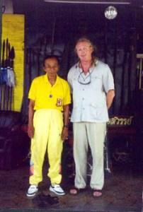 Ajanh Dr. Anthony B. James with Phaa Khruu Mesamarn