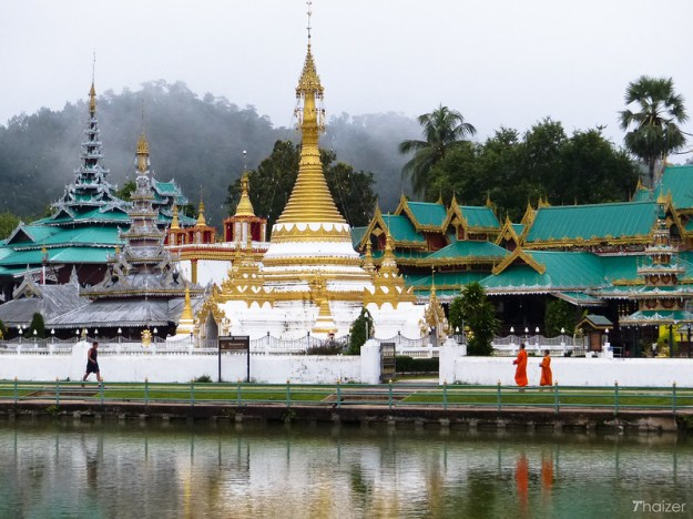 twin temples on the lake, Mae Hong Son