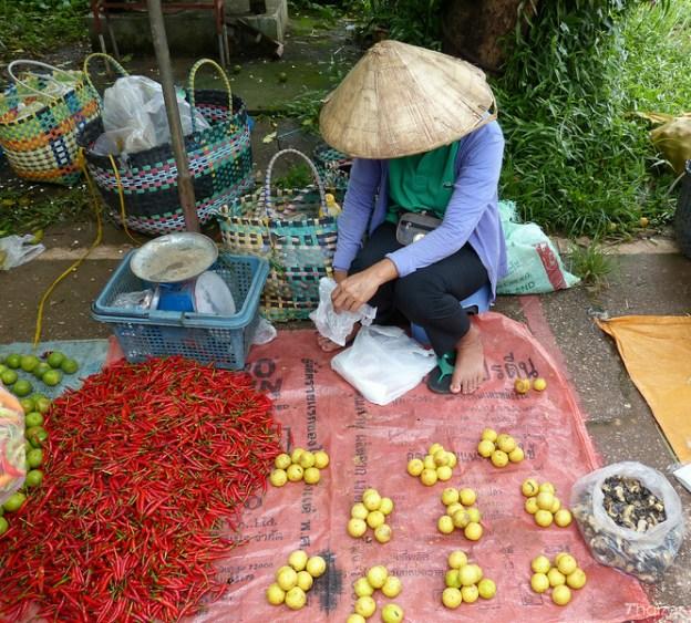 fresh food market in Nakhon Phanom, north-east Thailand