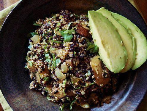 Black rice ..