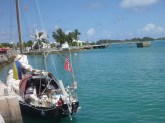 Moored alongside in St George's harbour, bermudas, 2013