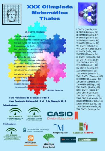 Cartel de la XXX Olimpiada Matemática Thales