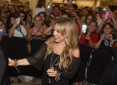 MIAMI, FL - OCTOBER 10: Thalia kicks off her fall collection at Macys at Miami International Mall on October 10, 2015 in Miami, Florida. (Photo by Gustavo Caballero/WireImage)