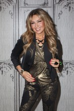 Thalia speaks onstage at the AOL BUILD on October 20, 2015 in New York City (12)
