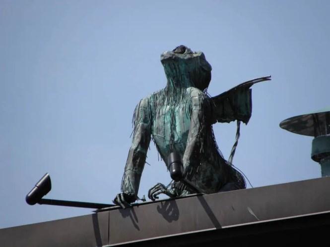 burlington winged flying monkey sculpture 13