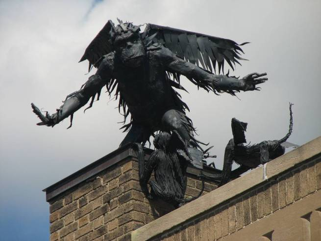 burlington winged flying monkey sculpture 8