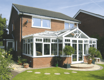 VEKA Conservatory PVC in standard white finish