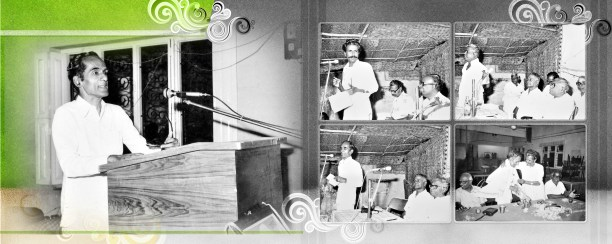 மேடையில் தமிழ்க்குடிமகன், சோமலே, குழந்தைக் கவிஞர் அழ.வள்ளியப்பா...