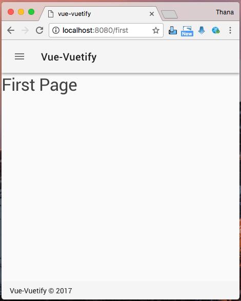 สร้างเว็บด้วย Vue js+Vuetify - thana in th