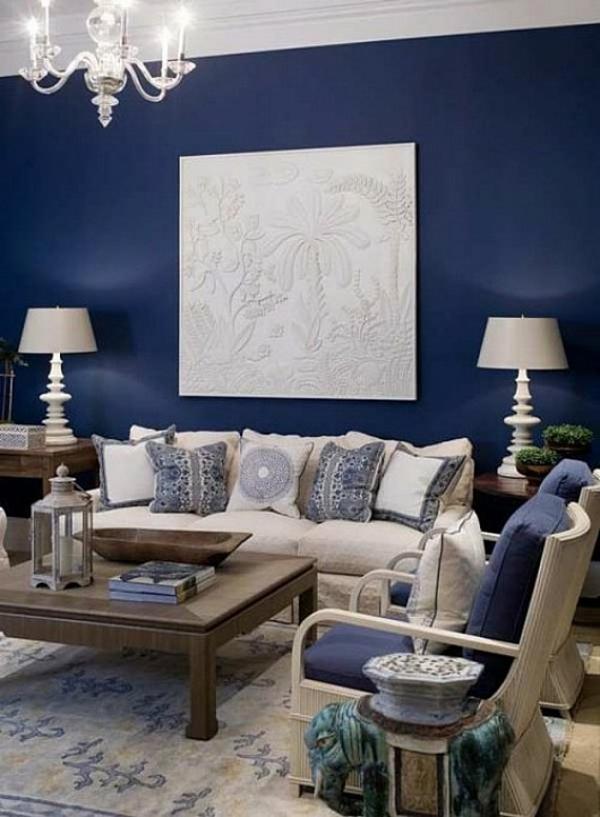 Wohnzimmer Blau Weiss Grau  collectionjobs