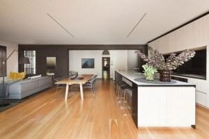 Moderne Küche Mit Essecke Und Wohnzimmer   Thand.info