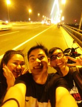 With my two best friends, Doo and Jami, on Nhat Tan bridge, a new bridge funded by the Japanese government. I love these people!