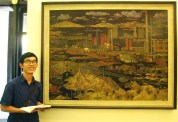 Wandering off the Temple of Literature, I visited Vietnam National Museum of Fine Arts. (Free entrance for the public; celebration of the Independence Day on September 2nd, why not?) This painting caught my attention immediately since it reminded me of my grandfather who worked in Thai Nguyen for three years during the 1960s, a period of rapid industrialization in Northern Vietnam. Like many paintings of this period, it glorifies the labor and human-power spirit. Three hours of walking was worth the notes and documents. If you love the Art, tell me and we can explore it here in Hanoi.