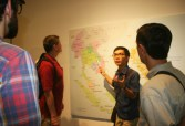 Being a language-and-culture teacher and a tour guide at ELIC. We were at the Ethnology Museum, discussing the geography and history of Southeast Asia, just before discussing in detail about Vietnam