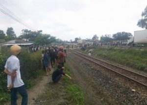 Hải Dương: Xe môtô va chạm với tàu hỏa, hai người tử vong
