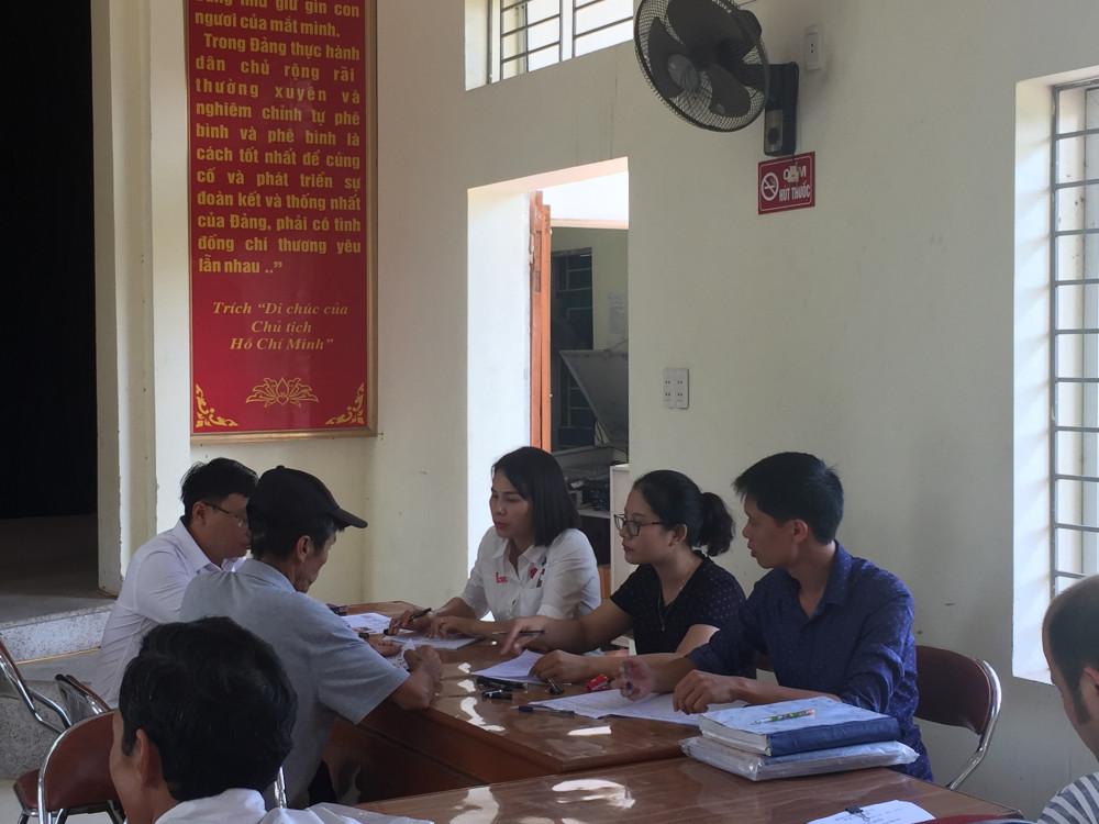 Tổ chức chi trả tiền GPMB và bốc thăm đất tái định cư tại xã Bắc Sơn (An Dương)