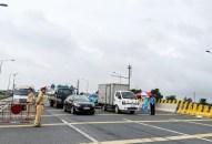 Phân luồng giao thông tạm thời trên đường Tân Vũ-Lạch Huyện để phục vụ phòng chống dịch COVID-19