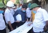 Kiểm tra tiến độ thực hiện công tác giải phóng mặt bằng thực hiện Dự án đầu tư xây dựng trục đường Hồ Sen – Cầu Rào 2