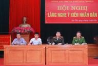Giám đốc Công an thành phố: Lắng nghe ý kiến nhân dân tại xã Liên Khê (huyện Thủy Nguyên)