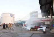 Kho xăng dầu Hàng không Đình Vũ diễn tập phương án chữa cháy cứu nạn cứu hộ năm 2020