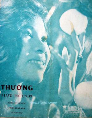 """Ảnh Thanh Thúy trên bìa ca khúc """"Thương một người"""""""