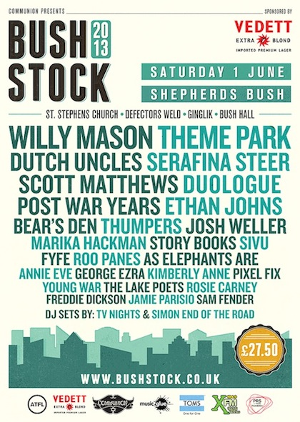 Bushstock 2013 final line up