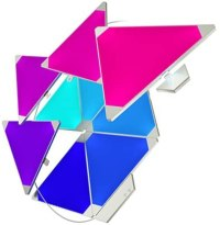 nanoleaf Light Panels Rhythm Starter Kit - 9x Modulare Smarte LED mit Sound Modul, App Steuerung [16 Millionen Farben, Alexa kompatibel, Plug and Play für iOS [Apple Home Kit kompatibel) & Android