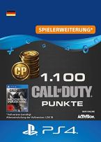 Call of Duty: Modern Warfare-Punkte 1100 Points | PS4 Download Code - deutsches Konto