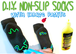 How To Make Non Slip Socks - A Simple DIY Project