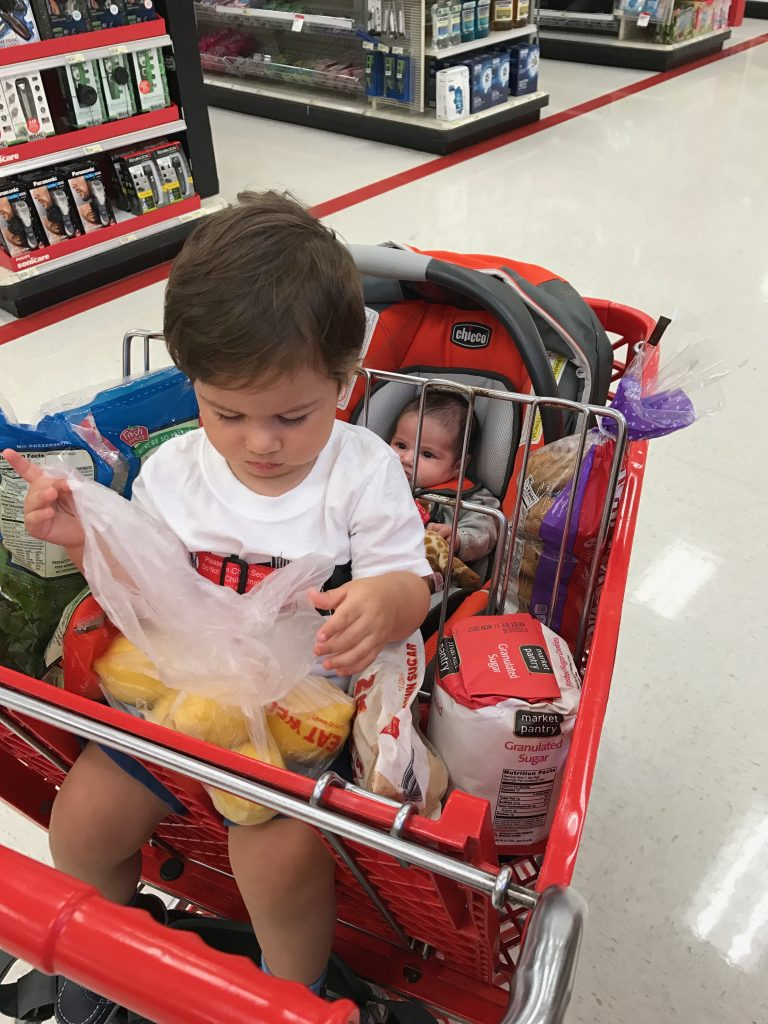 Mom Struggles With Two Kids Under Two - Grocery Shopping