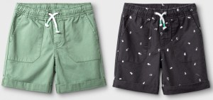 Toddler Boys' 2pk Pull-On Shorts - Cat & Jack™ Sage:White Dash Print