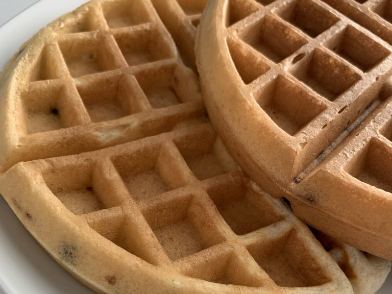 Homemade Cinnamon Chip Waffles Recipe