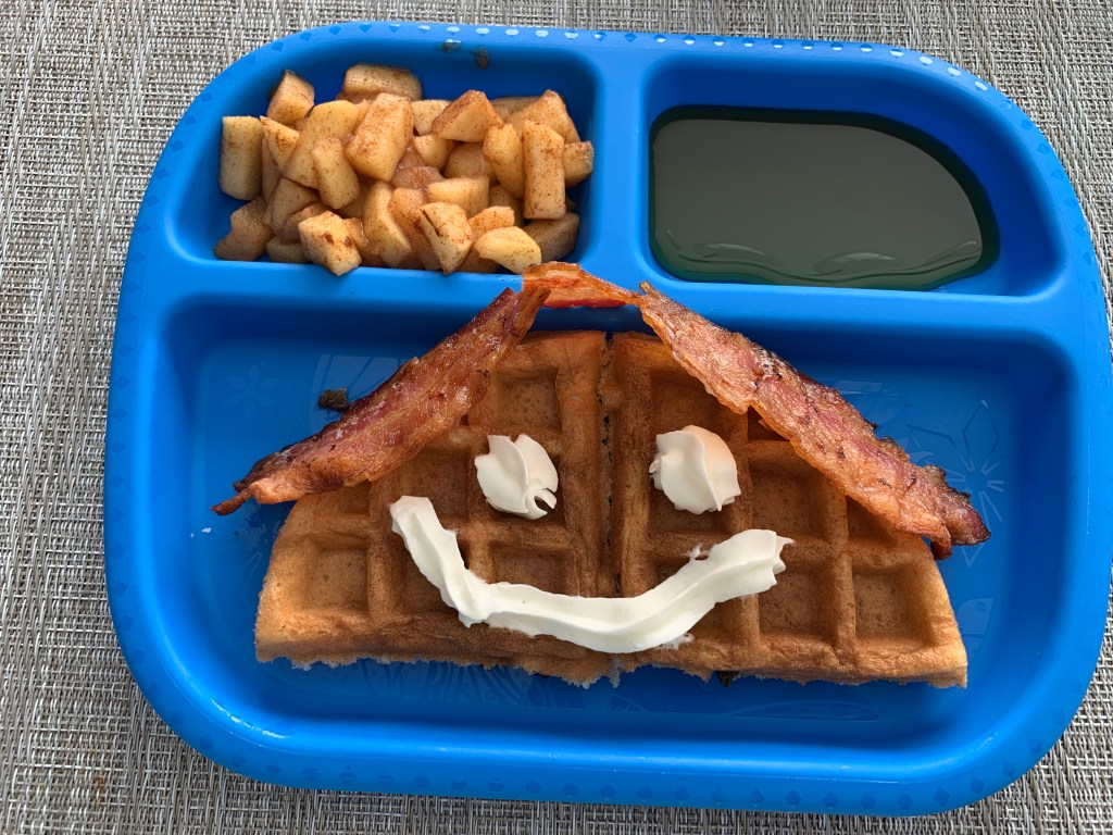 Our Favorite Homemade Waffles Recipe with Cinnamon Butter and Apples