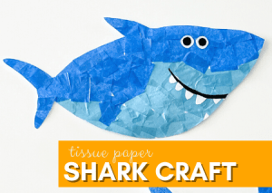 Read more about the article Super Cute Tissue Paper Shark Craft for Preschool Kids That Will Make You Smile