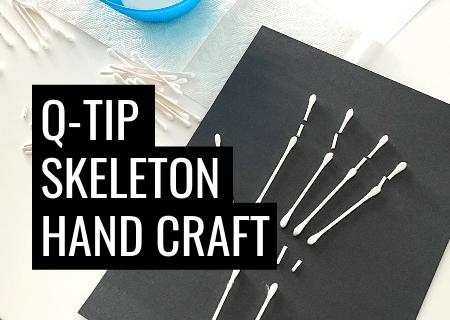 Q Tip Skeleton Craft As Fun Halloween Art Or Cute X-ray Craft