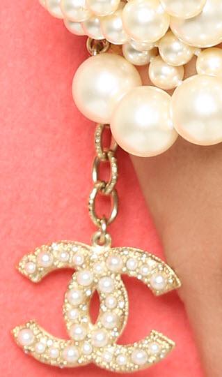 Vintage Chanel 6 Strand Imitation Pearl Bracelet